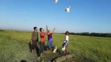 হবিগঞ্জে শিকারীর কবল থেকে ২০টি বক উদ্ধার, অবমুক্ত