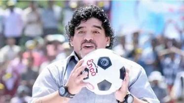 না ফেরার দেশে ফুটবল ঈশ্বর ম্যারাডোনা