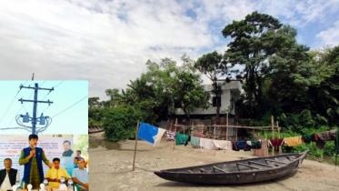 দুর্গম টাঙ্গুয়া হাওর পাড়ের ১৫ গ্রামে বিদ্যুৎ সংযোগ