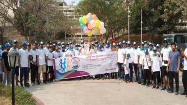 কুবিতে 'বঙ্গবন্ধু শেখ মুজিব ঢাকা ম্যারাথন-২০২১' অনুষ্ঠিত